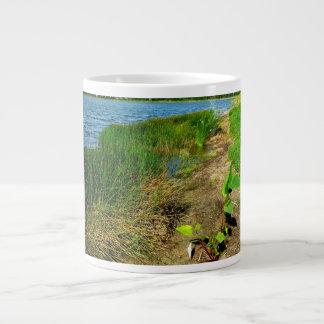 Pond bank with pond plants jumbo mug