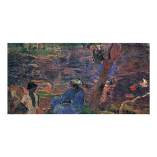 Pond By Gauguin Paul (Best Quality) Photo Card Template