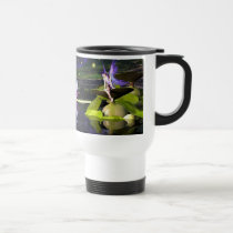 pond, faerie, fae, faery, fairy, fairies, wee, folk, fay, mythical, art, realism, fantasy, fantasies, lilly, pad, waterfall, tree, trees, fireflies, dragonflies, dragonfly, firefly, faeries, Caneca com design gráfico personalizado