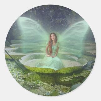 Pond Fairy Classic Round Sticker
