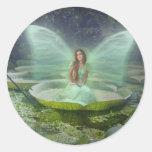 Pond Fairy Round Sticker