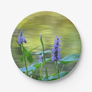 Pond Flowers Paper Plate 7 Inch Paper Plate