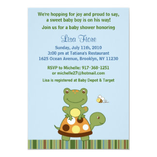 Pond Friends Frog Turtle Baby Shower Invitations