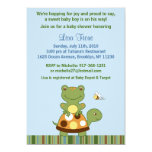 """Pond Friends Frog Turtle Baby Shower Invitations 5"""" X 7"""" Invitation Card"""