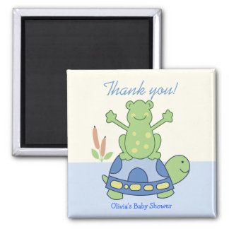 Pond Friends Frog & Turtle Customized Favor Magnet