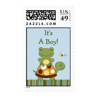 Pond Friends Frog Turtle Postage Stamps