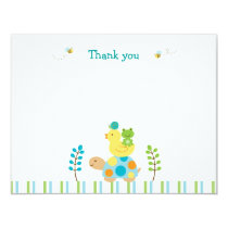 Pond Frog Turtle Flat Thank You Note Cards