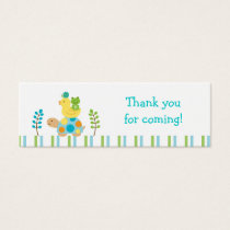 Pond Frog Turtle Goodie Bag Tags Gift Tags