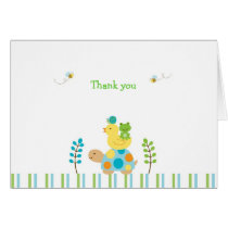 Pond Frog Turtle Thank You Note Cards