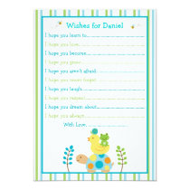 Pond Frog Turtle Wishes for Baby Card