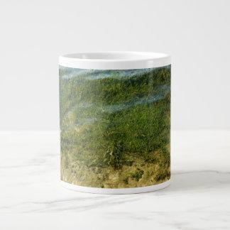 Pond grass underwater image large coffee mug