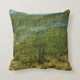 Pond grass underwater image pillow