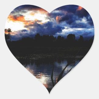 pond heart sticker