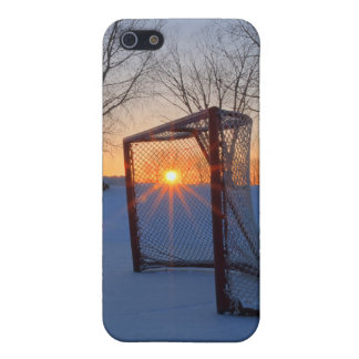 Pond Hockey Sunset iPhone 5 Cases