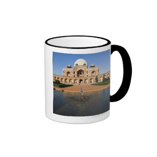 Pond in Front of a Tomb Ringer Coffee Mug