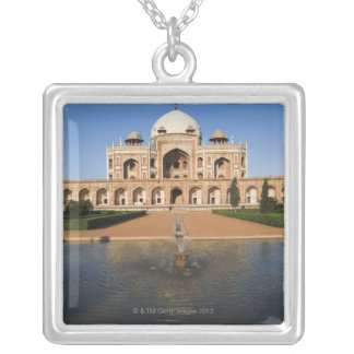 Pond in Front of a Tomb Silver Plated Necklace