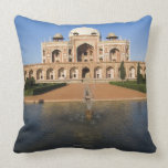 Pond in Front of a Tomb Throw Pillow