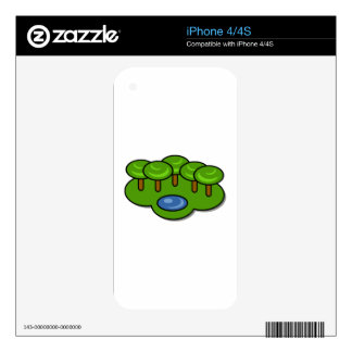 Pond in the Park Decals For The iPhone 4
