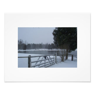 Pond in the snow photo print