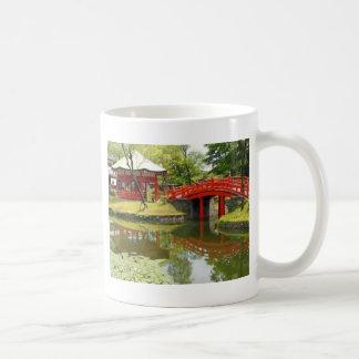 pond in village coffee mug