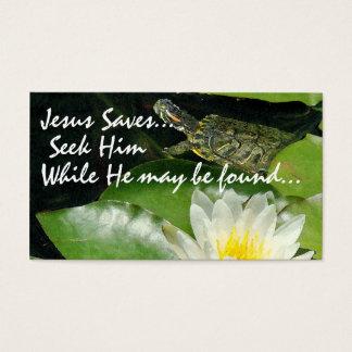 Pond Jesus Saves Card