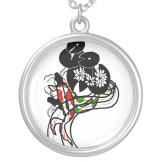 Pond Koi Silhouette silver necklace