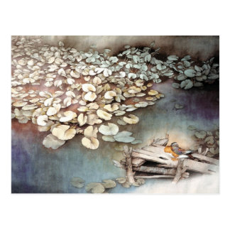 Pond life, Classical Chinese Art Postcard