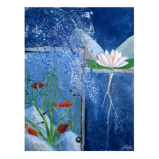 Pond Life Contemporary Art Postcard