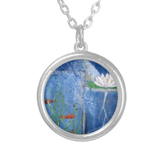 Pond Life Contemporary Art Silver Plated Necklace