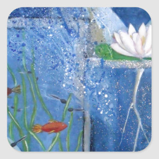 Pond Life Contemporary Art Sticker