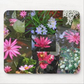 POND LILIES COLLAGE MOUSE PAD