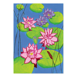 Pond Lilies Large Business Card
