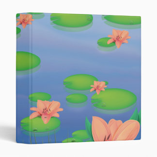 Pond Lilly Leafs 3 Ring Binder