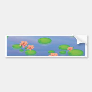 Pond Lilly Leafs Bumper Sticker