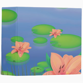 Pond Lily 3 Ring Binder
