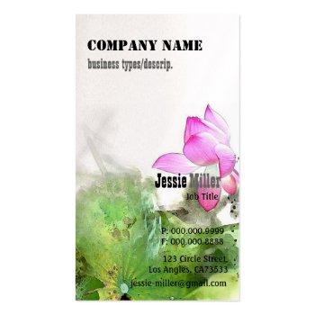 POND LOTUS l Chinese Brush Painting Art Business Card