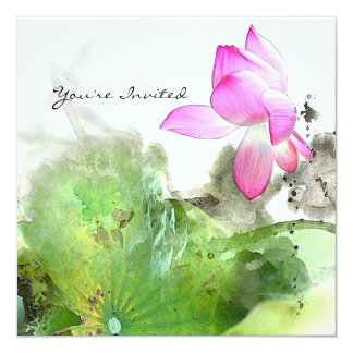 POND LOTUS l Chinese Brush Painting Art Card