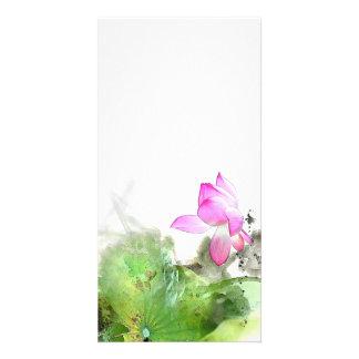 POND LOTUS l Chinese Brush Painting Art Card