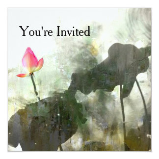 POND LOTUS | Photographic Watercolor Painting Art Card
