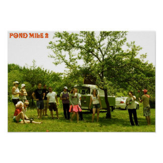 Pond mile 2 Woodstock Print
