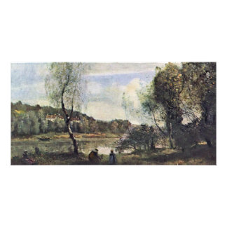 Pond Of Ville D'Avray By Corot Jean-Baptiste-Camil Picture Card