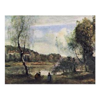 Pond Of Ville D'Avray By Corot Jean-Baptiste-Camil Postcard