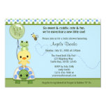 "Pond Pals Duck Baby Shower Invitation Frog Turtle 5"" X 7"" Invitation Card"