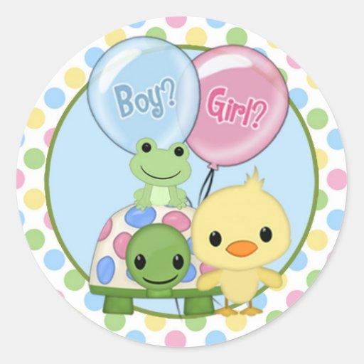 Pond Pals Duck Baby Shower sticker PPL-N#3 turtle
