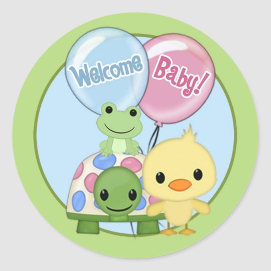 Pond Pals Duck Baby Shower sticker PPL-N#3A turtle
