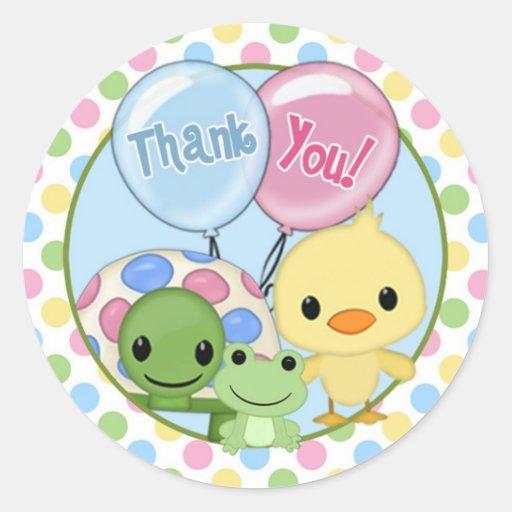 Pond Pals Duck Baby Shower sticker PPL-N#4 turtle