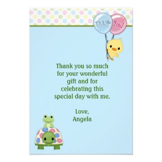 "Pond Pals Duck Thank You Note 3.5""x5"" (FLAT)"