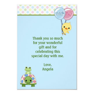 """Pond Pals Duck Thank You Note 3.5""""x5"""" (FLAT) Card"""