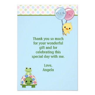 Pond Pals Duck Thank You Note 3 5 x5 FLAT Personalized Invitations