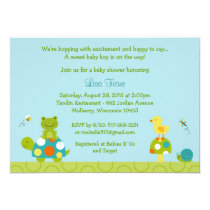 Pond Pals Frog Turtle Baby Shower Invitations